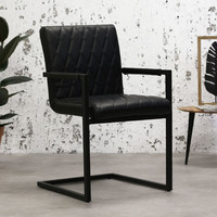 Industrial Dining Chair Rambo Black with arm