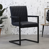 Industrial Dining Chair Rambo Blue with arm