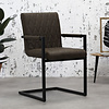 Industrial Dining Chair Rambo Taupe with arm