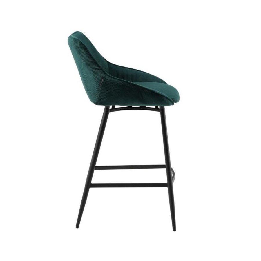 Swivel corduroy bar stool Luna Green