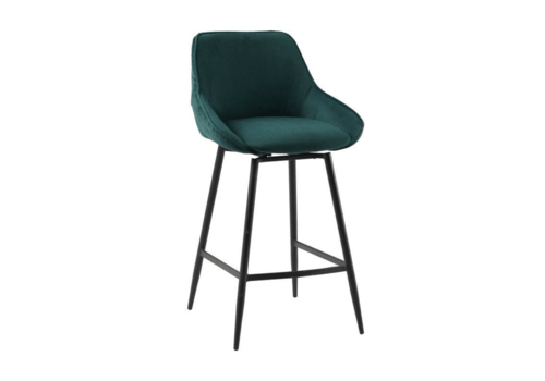 Swivel corduroy bar stool Luna Green