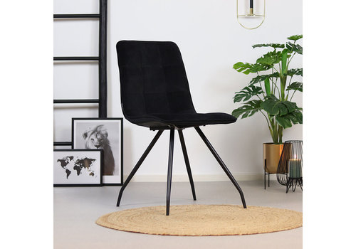 Velvet dining chair Lisa Black