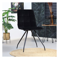 Velvet dining chair Lisa Black