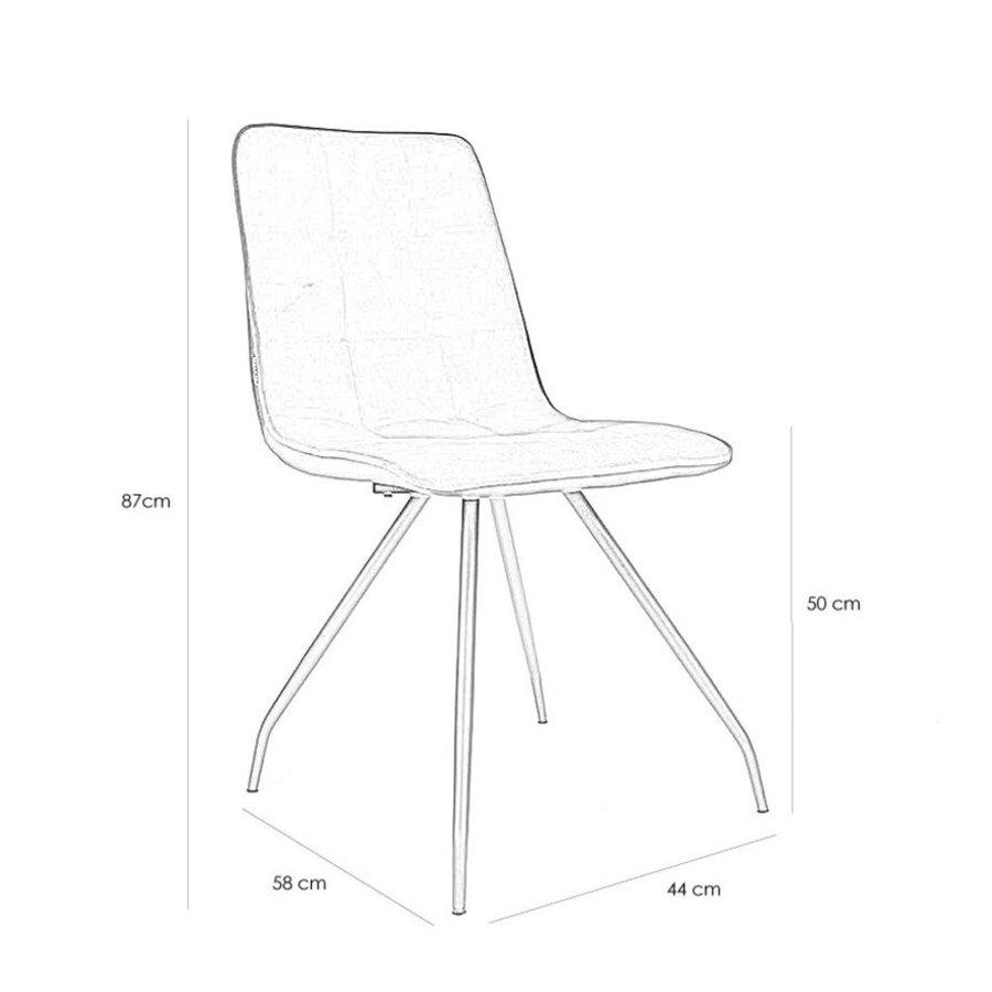 Velvet dining chair Lisa Blue