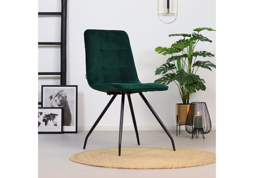 Velvet dining chair Lisa Green