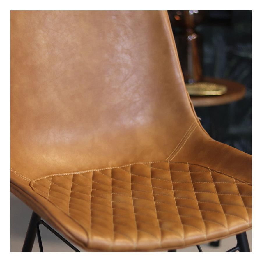 Industrial Dining Chair Lauren Cognac