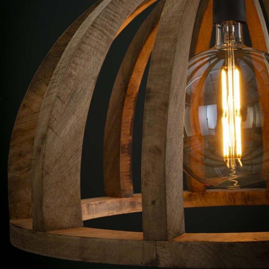 Retro Ceiling Light Silberston 3L Solid Mango Wood