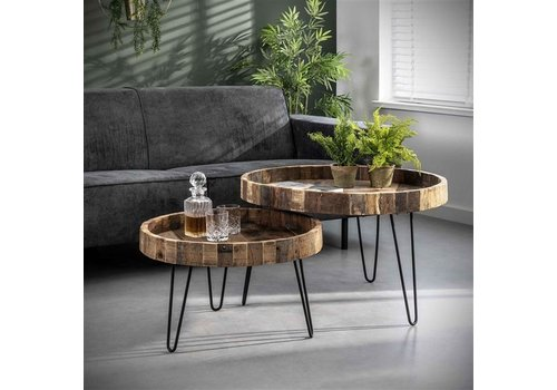 Industrial Side Table Wymark (set of 2)