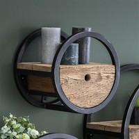 Wall shelf Dilon ø30 cm Robust Hardwood