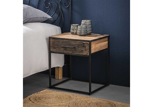 Industrial Bedside table Dudgeon Robust HardWood 1L