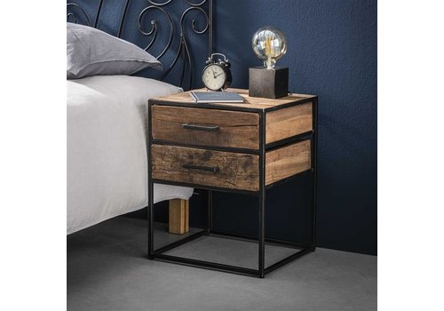 Industrial Bedside table Dudgeon Robust HardWood 2L