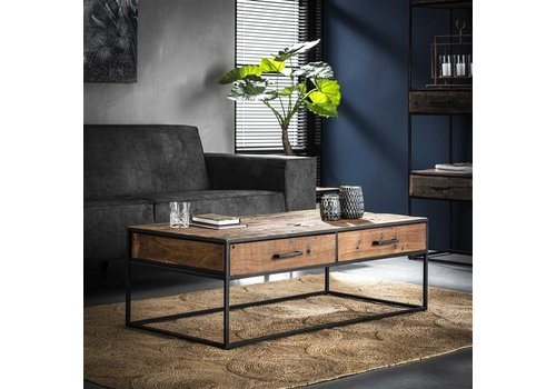 Industrial Coffee Table  Dudgeon Robust Hardwood