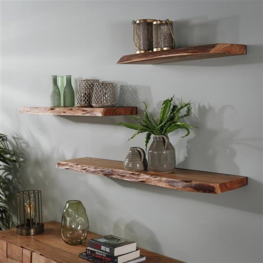 Wall shelf Dolman 90 cm Solid Acacia Wood