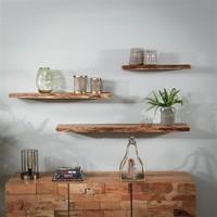 Wall shelf Dolman 120 cm Solid Acacia Wood