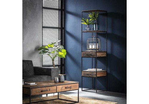 Industrial Wall Shelf Unit Dudgeon Robust Hardwood