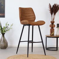 Bar Stool Morris Cognac Industrial Design