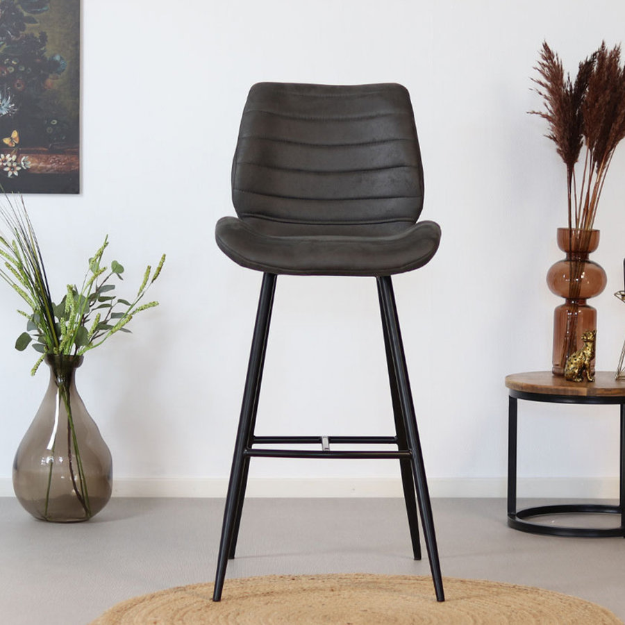 Bar Stool Morris Anthracite Industrial Design