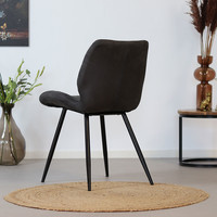 Industrial Dining Chair Morris Anthracite