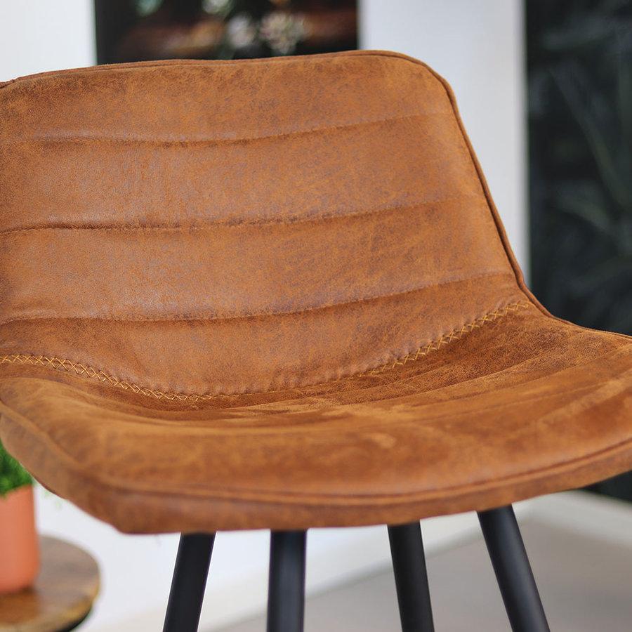 Industrial Bar Stool Jordan Cognac Leather