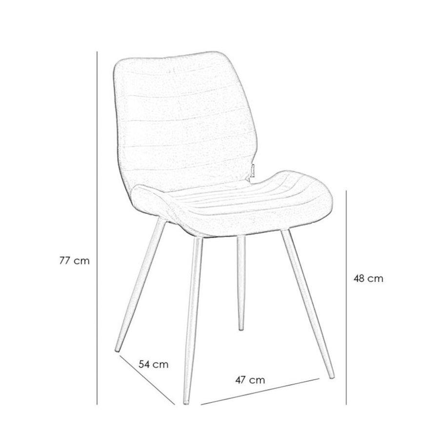 Velvet dining chair Toby Black