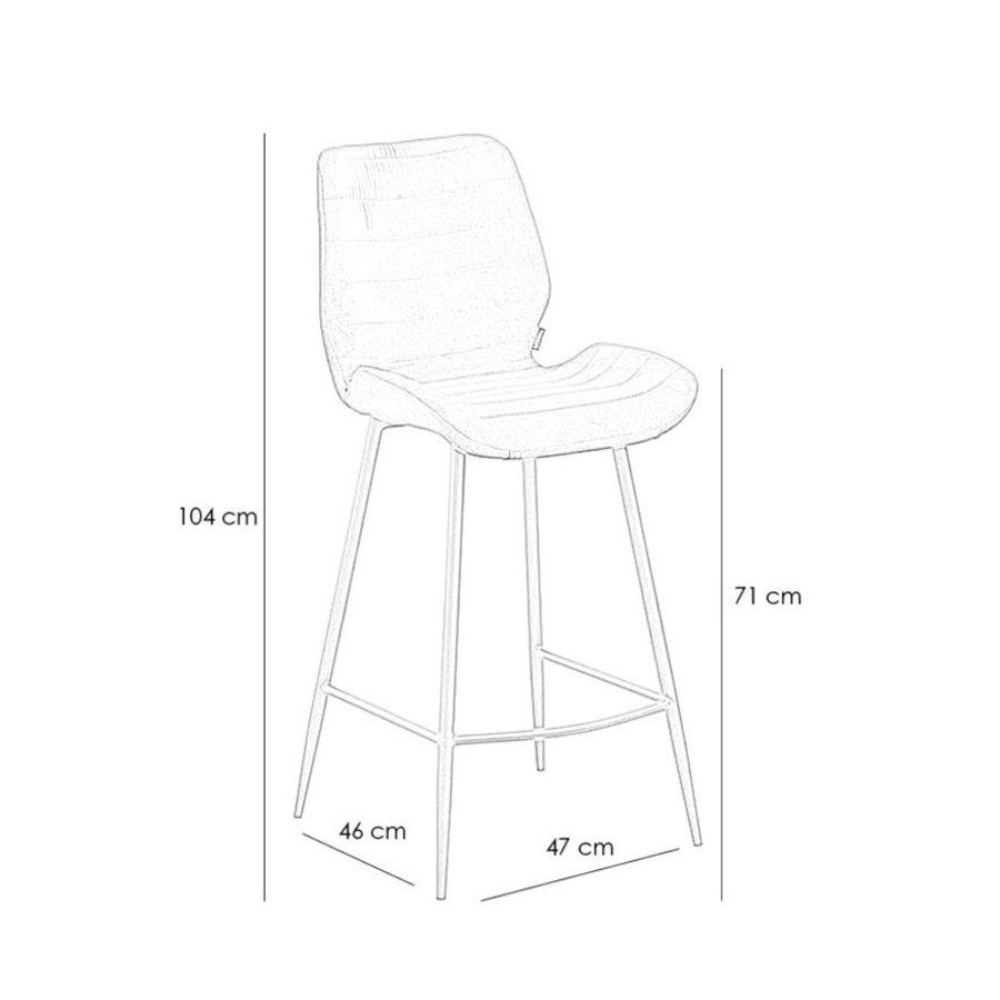 Velvet bar stool Toby Copper