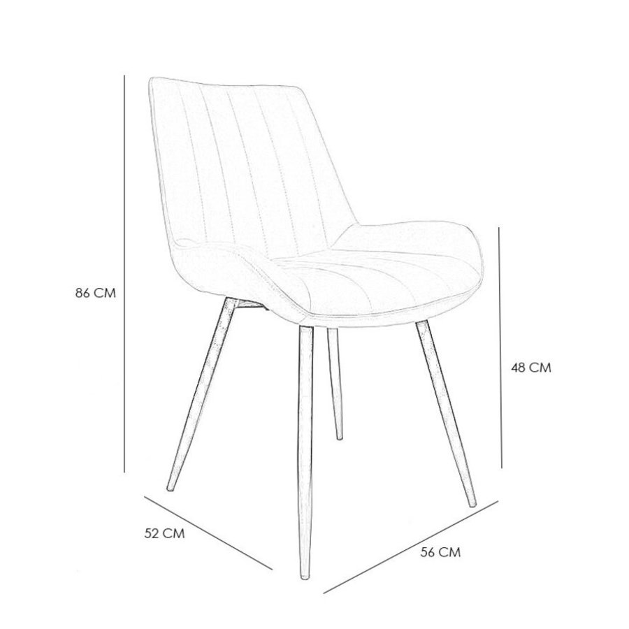 Industrial Dining Chair Brooke Cognac