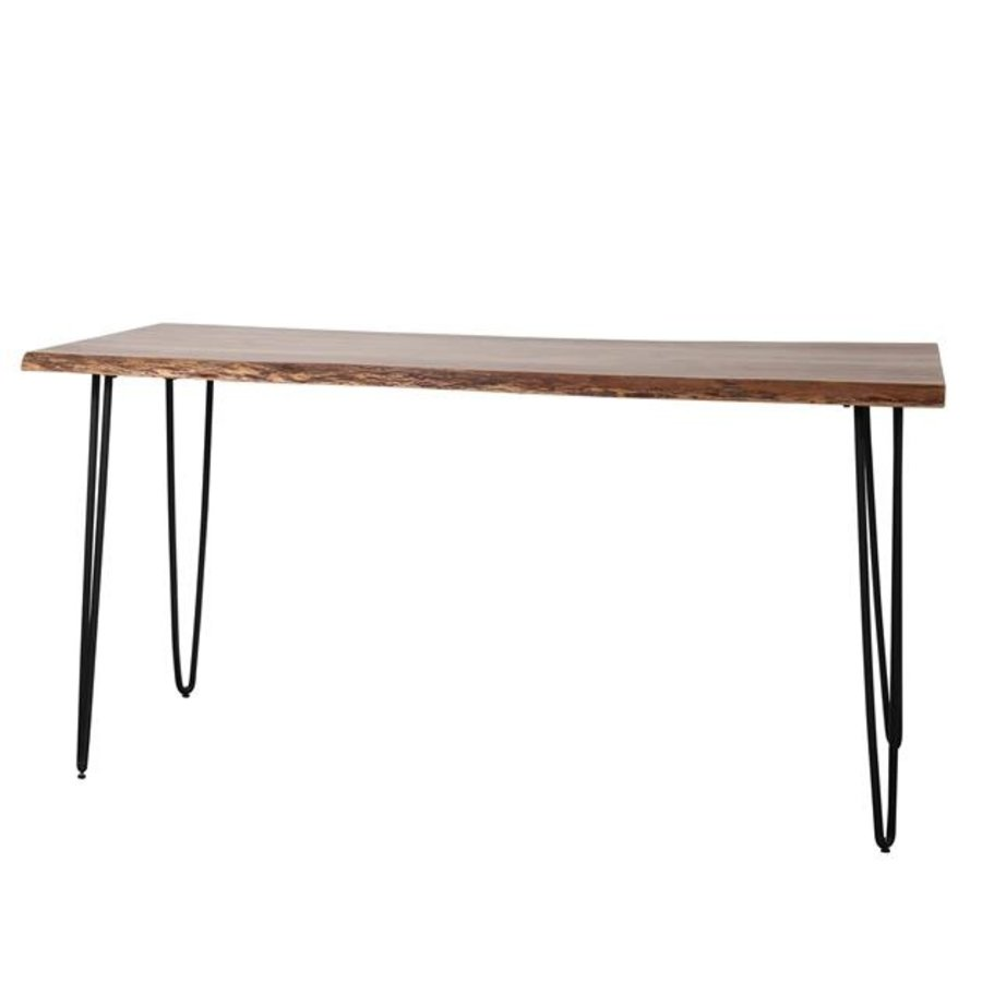 Industrial Bar Table Mawson Solid Acacia Wood Large
