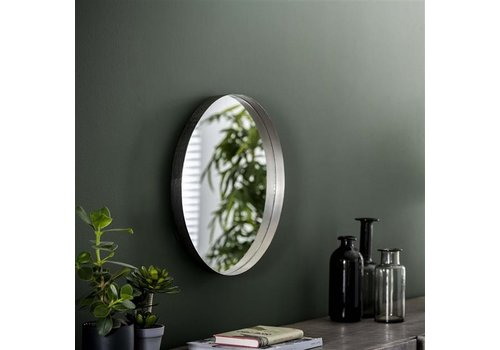 Wall mirror Kent ø50 cm Antique Nickel