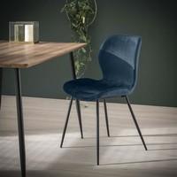 Velvet dining chair Golf Blue