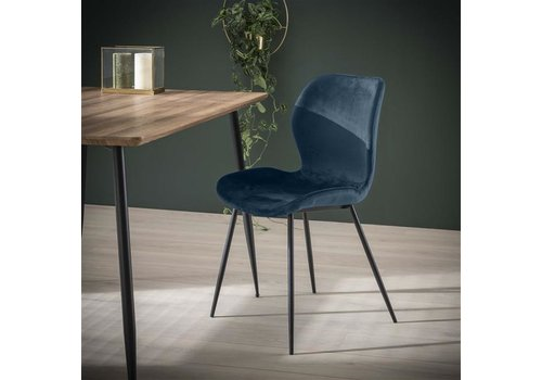 Velvet dining chair Golf Blue