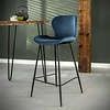 Velvet bar stool Golf Blue