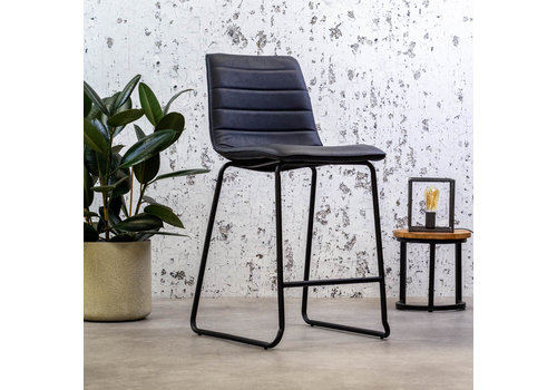 Industrial Bar Stool Ryan Blue