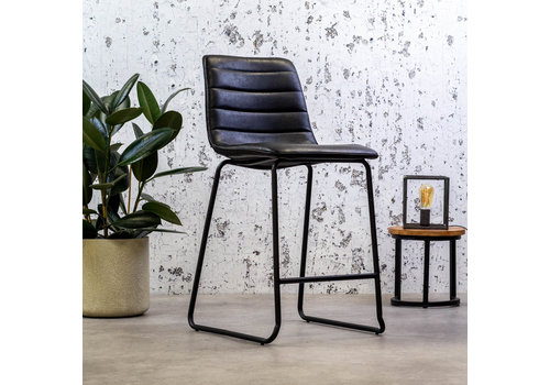 Industrial Bar Stool Ryan Black