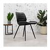 Industrial Dining Chair Morris Premium Black