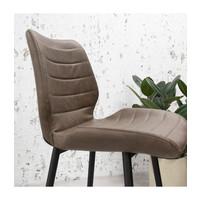 Industrial Dining Chair Morris Premium Brown