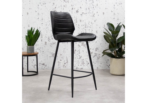 Industrial Bar Stool Morris Premium Black