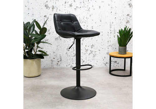 Industrial Bar Stool Ezra Premium Black