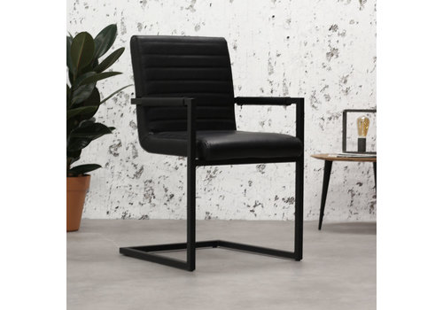 Industrial Dining Chair Kubis Premium Black