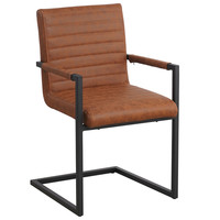 Industrial Dining Chair Kubis Premium Cognac