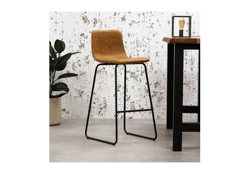 Industrial Bar Stool Byron Cognac