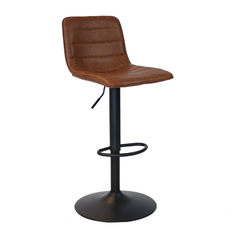 Bar Stool Boston Cognac Swivel seat