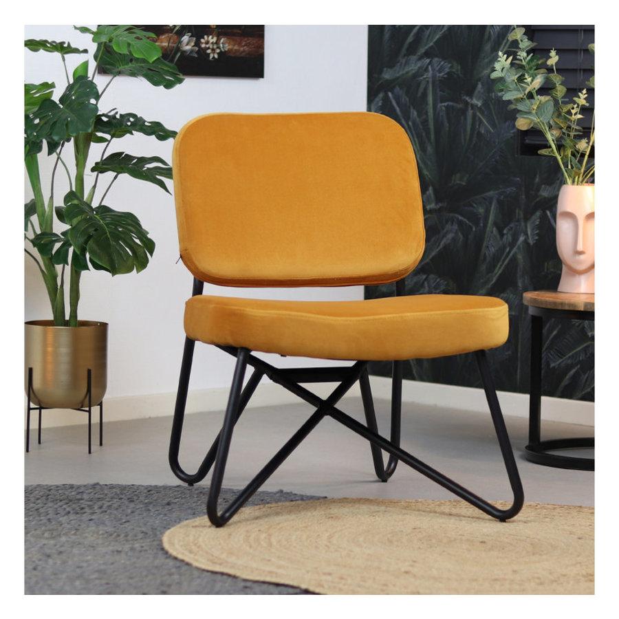Velvet armchair Julia Yellow