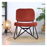 Velvet armchair Julia Copper