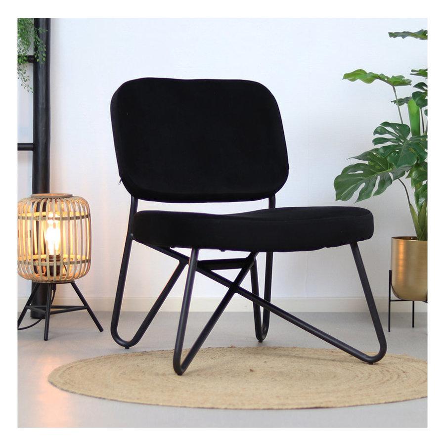 Velvet armchair Julia Black