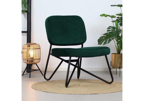 Velvet armchair Julia Green
