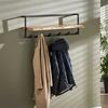 Wooden coat rack Jax wall shelf