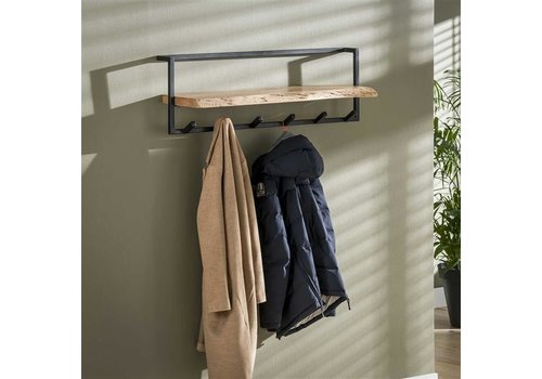 Wooden coat rack Jax wall shelf