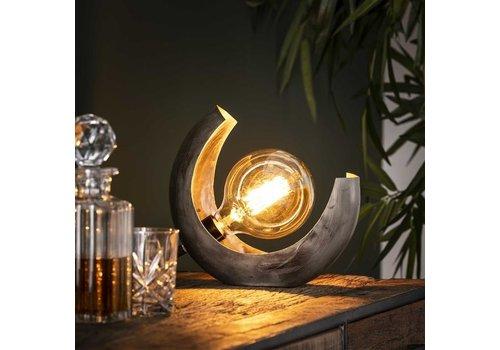 Industrial Table Lamp Porthtowan Open