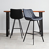 Industrial Bar Stool Bowie Blue