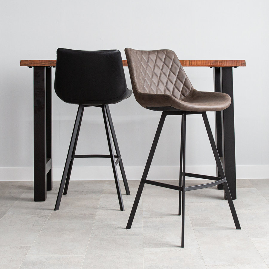 Industrial Bar Stool Bowie Brown